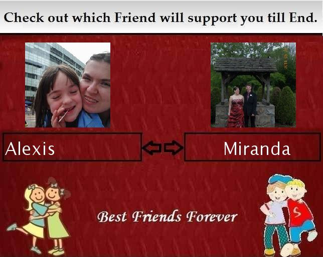 my results of Which Best Friend will support you till End?
