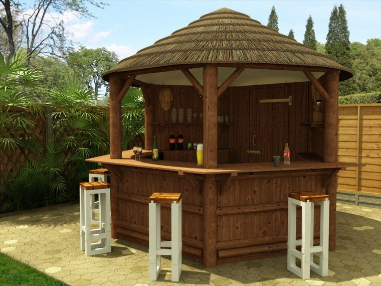 Bar De Jardin Gazebo Bar Outdoor Tiki Bar Wooden Gazebo