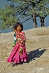 North America: Tarahumara, Mexico. The dress is so much like what girls wear in India- lengha-choli