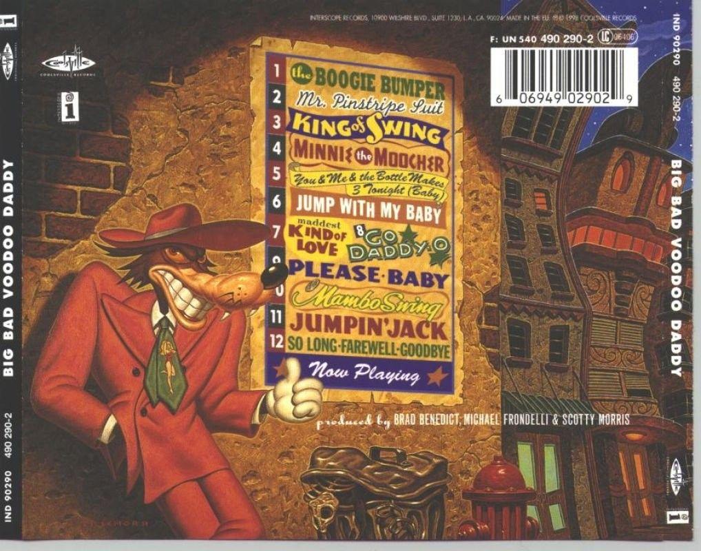 Big Bad Voodoo Daddy 1998 Americana Deluxe Todd Schorr