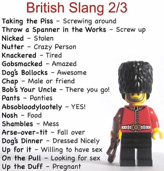 British Slang 2/3 | British english, English vocabulary ...