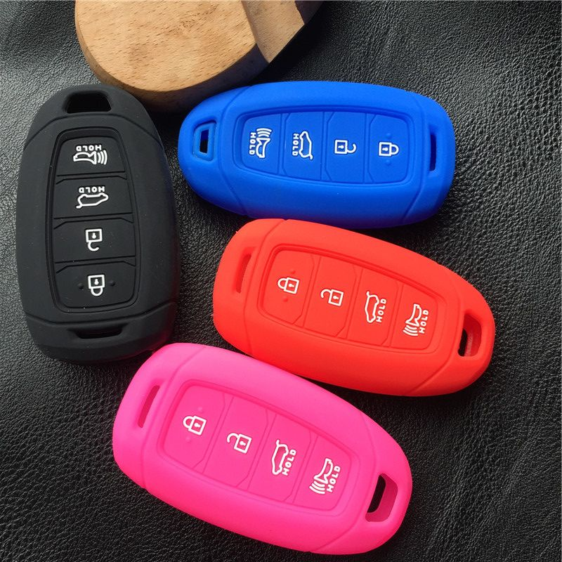 Silicone 4 Button Smart Key Keyless Entry Fob Cover Remote Case