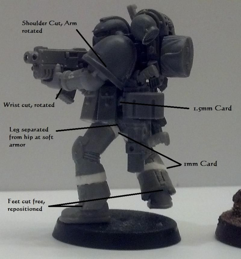 Conversion, Space Marines, Tall Scale, True Scale