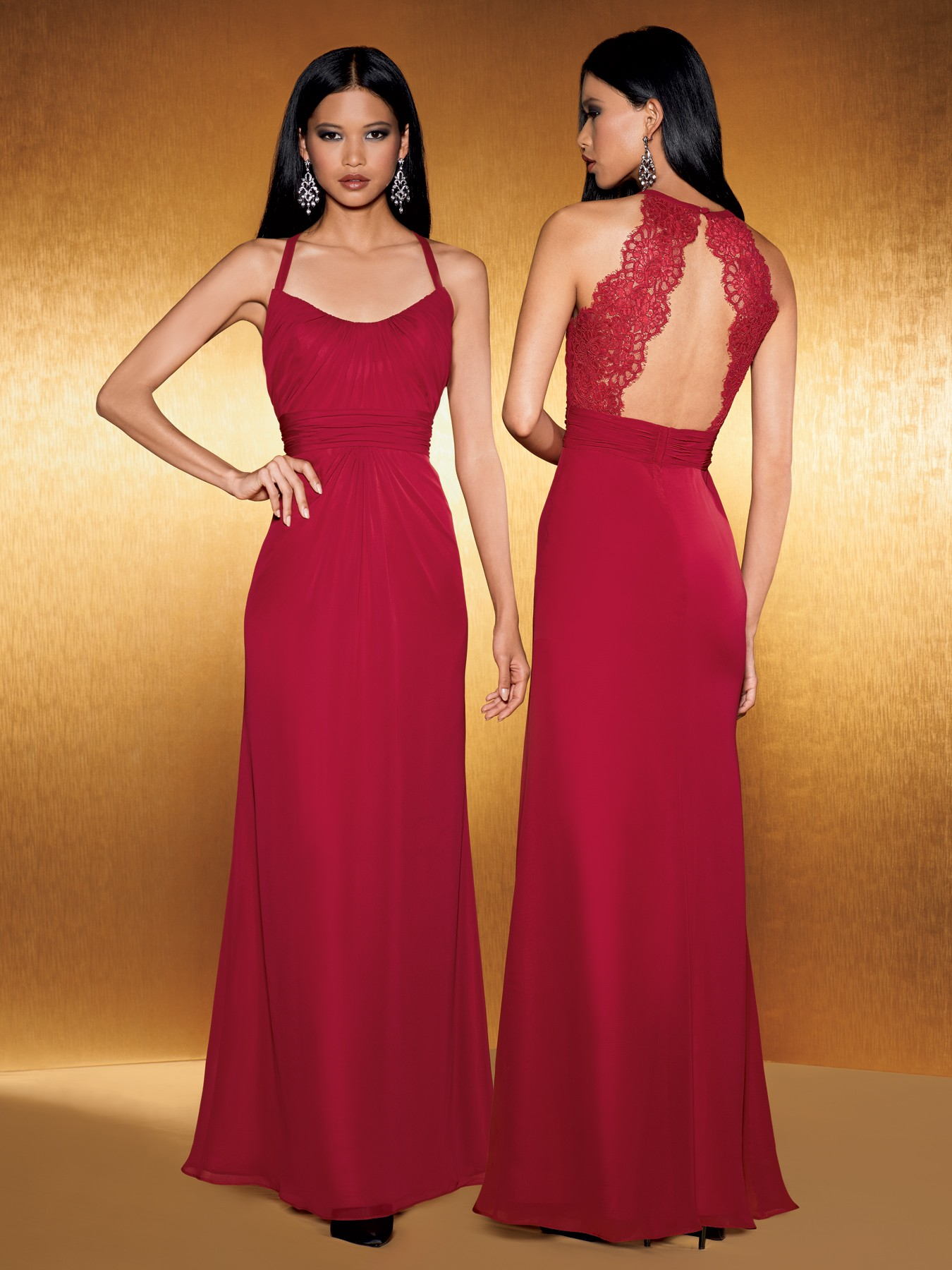 Jordan bridesmaids style 1000 poshbridallanc posh jordan jordan fashions red bridesmaid dress style fluted chiffon gown with draped skirt and neckline open back with lace accent available in short knee and ombrellifo Images