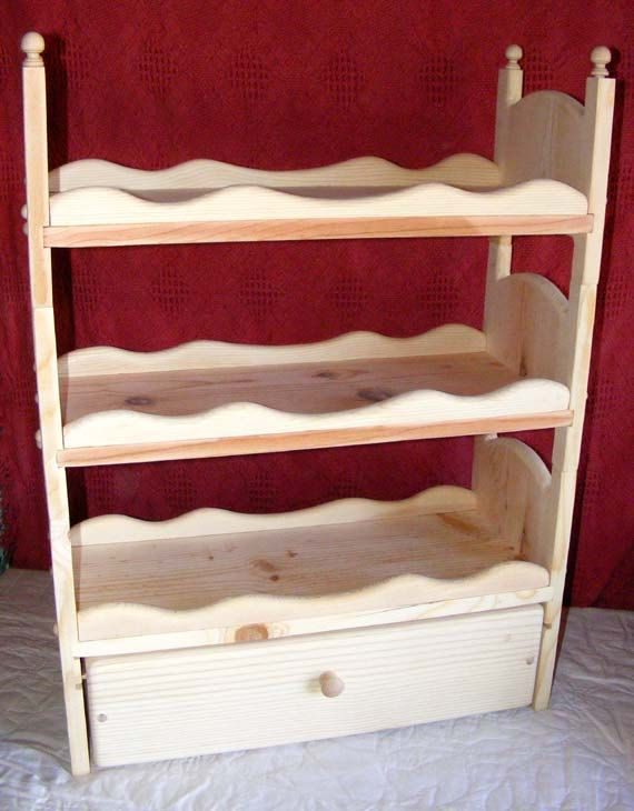 American Girl Bed Wooden Doll Bed Stackable Triple Bunk Bed Doll