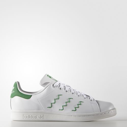 on sale dd768 bd035 donne adidas originali stan stan stan smith bianco verde zig - zag w doom  nova cfa117