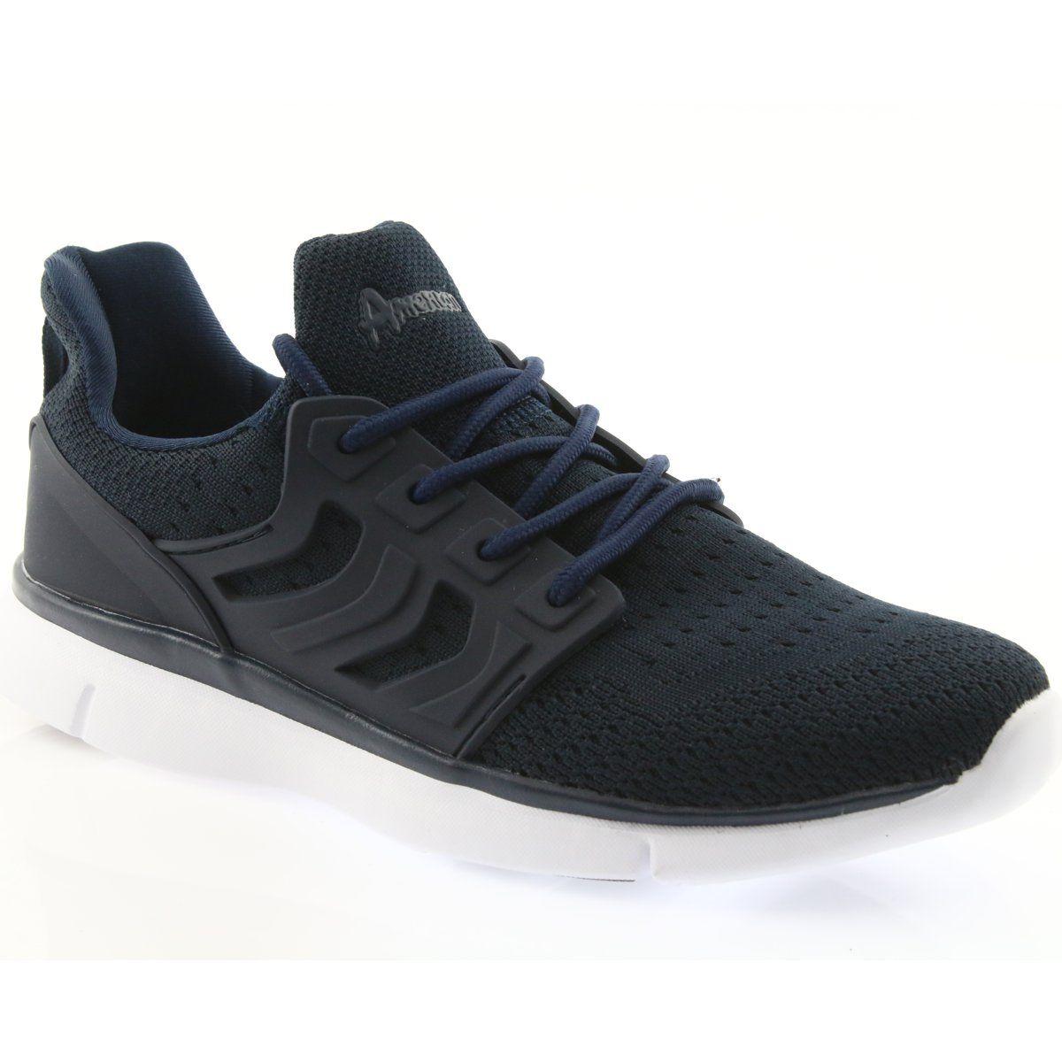 American Club Buty Sportowe American Fh07 Granatowe Sport Shoes Shoes All Black Sneakers