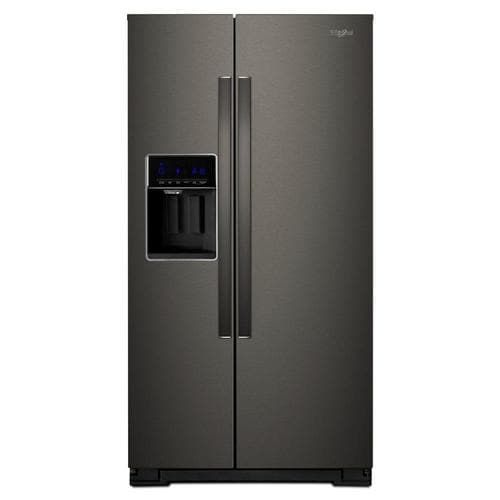 Whirlpool 20 6 Cu Ft Counter Depth Side By Side Refrigerator With Ice Maker Fingerprint Resistant Black Stainless Lowes Com In 2020 Counter Depth Refrigerator Counter Depth Side By Side Refrigerator
