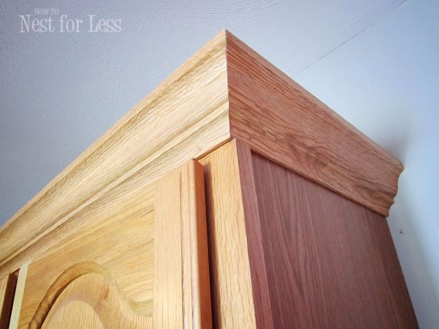 Interior Crown Molding For Kitchen Cabinet Tops mini makeover crown molding on my kitchen cabinets moldings diy cabinet looks expensive but its an easy and cheap update