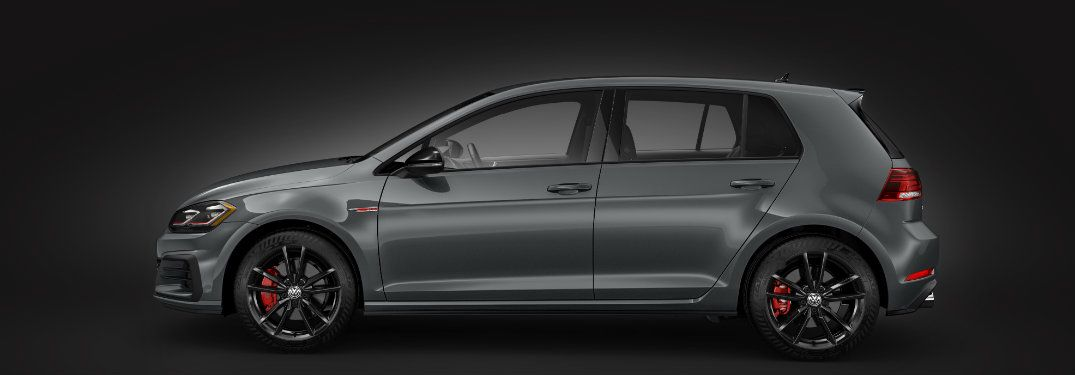Side Profile Of Gray 2019 Volkswagen Golf Gti Rabbit Edition