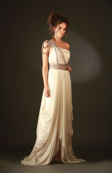 Girl nude greek goddess costume with