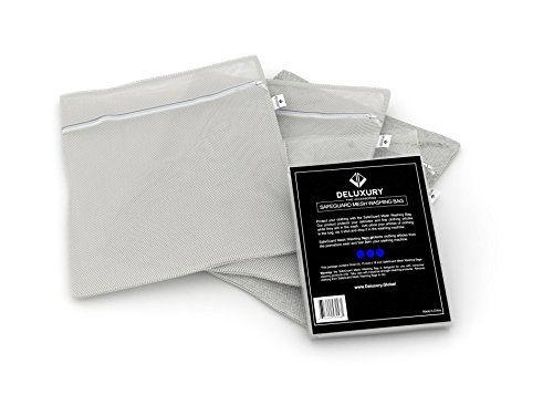 Premium Mesh Washing Bag Set - Deluxury Fine Accessories SafeGuard Laundry Bag to Protect Delicates, Clothing, Fine Articles: Set of Three (3) Deluxury Fine Accessories http://www.amazon.com/dp/B013FG4TMU/ref=cm_sw_r_pi_dp_0njewb1Z9T820