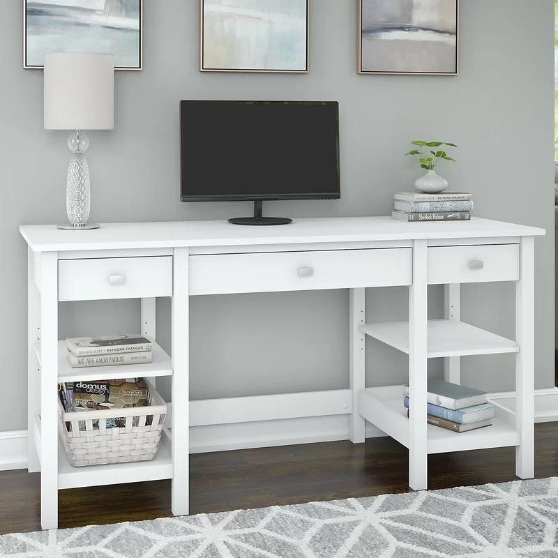 Perreira Desk In 2021 Desk Storage Cheap Office Furniture Storage Shelves
