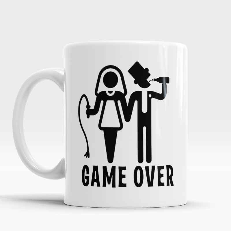 Funny Wedding Gifts For Bride: Game Over Mug Funny Mug Gift Idea For Her And Him, Funny