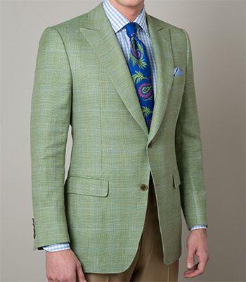 Paul Stuart - Wool/Linen/Silk/Cashmere Windowpane Sport Jacket ...