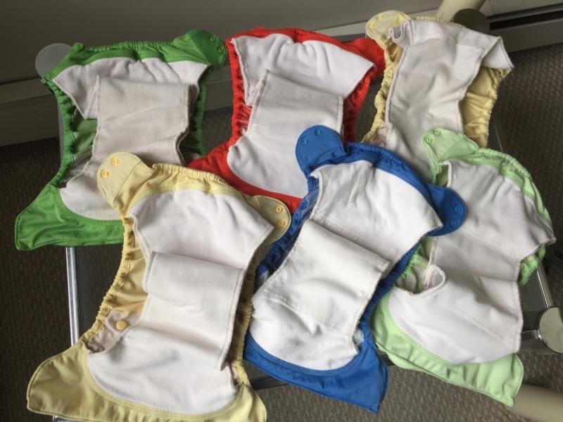 6 bumgenius elementals, ribbit, grasshopper, moonbeam, 2 butternut, sassy | Cloth Diaper Trader