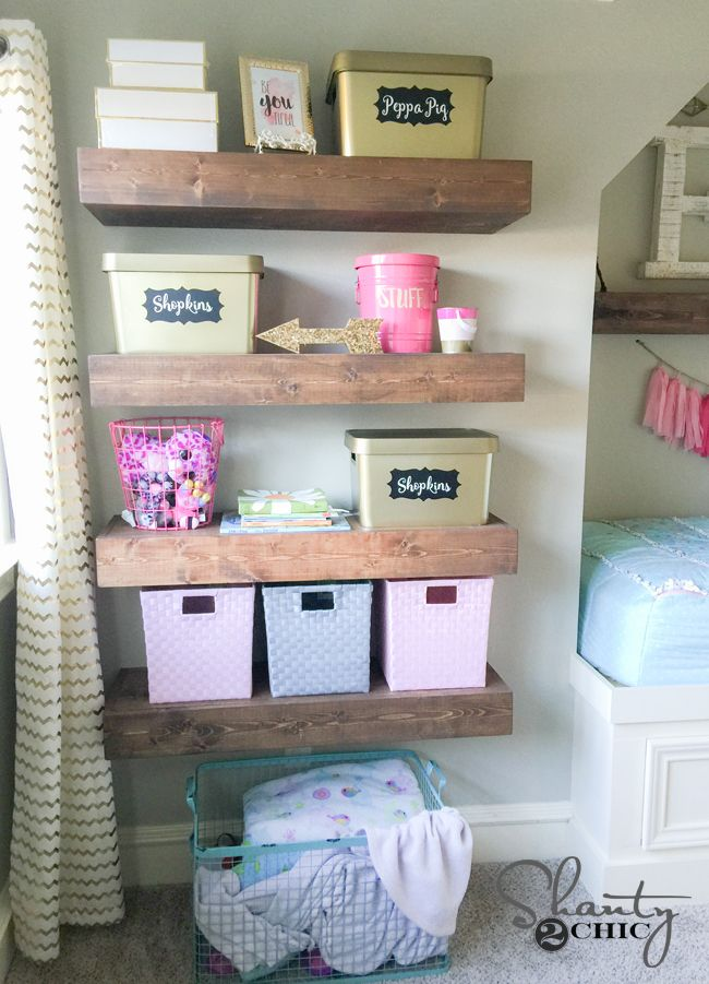 DIY Floating Shelves Plans and Tutorial | Toy storage, Shelves and ...