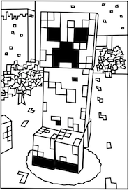 Free printable Minecraft Creeper coloring page. | Elijah ...