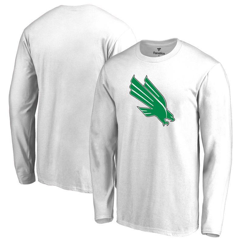 North Texas Mean Green Big   Tall Primary Logo Long Sleeve T-Shirt - White 167139da1