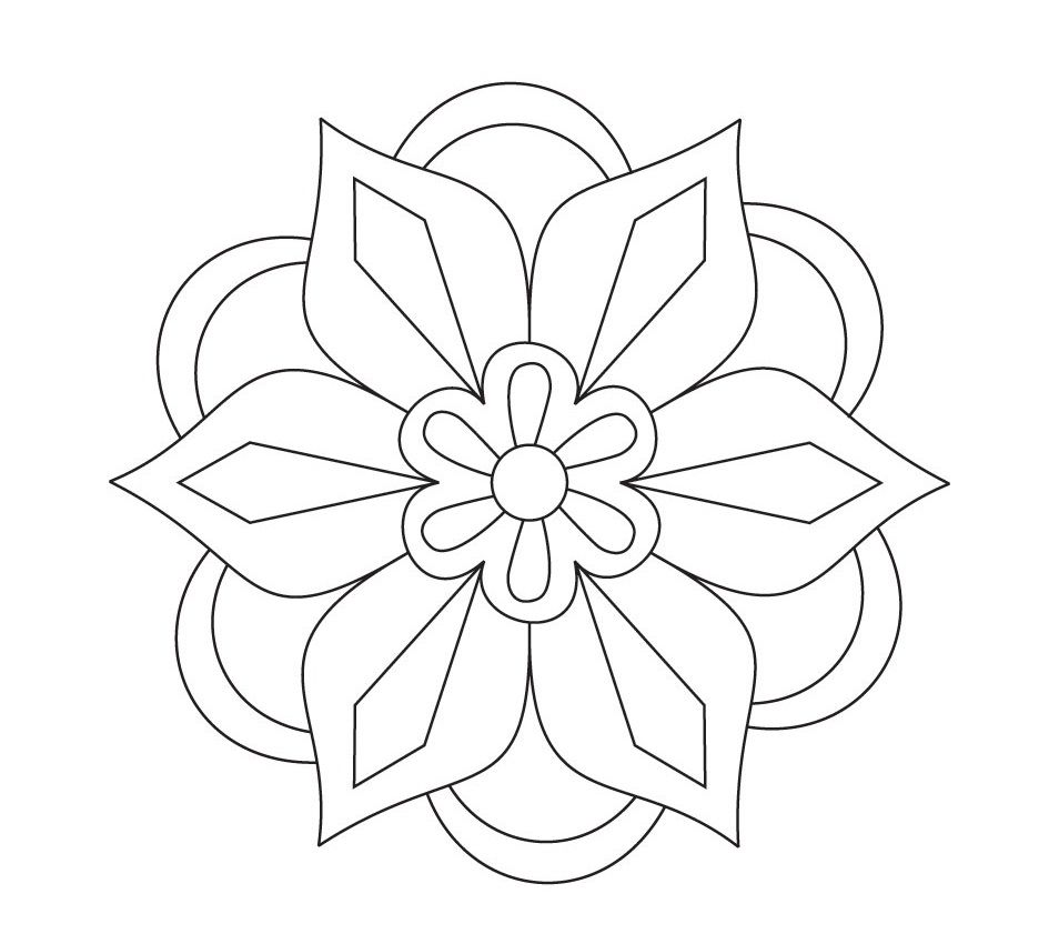 Printable Rangoli Coloring Pages Rangoli Patterns Mandala Coloring Flower Templates Printable Free
