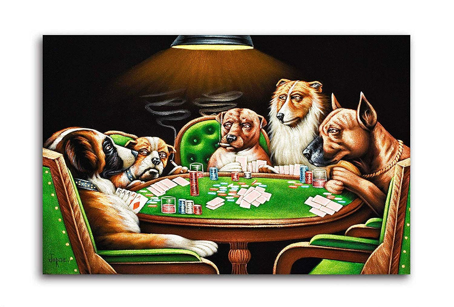 Dogs Playing Poker Rolled Canvas Reprint Unframed In 2020 Dogs Playing Poker Canvas Canvas Prints