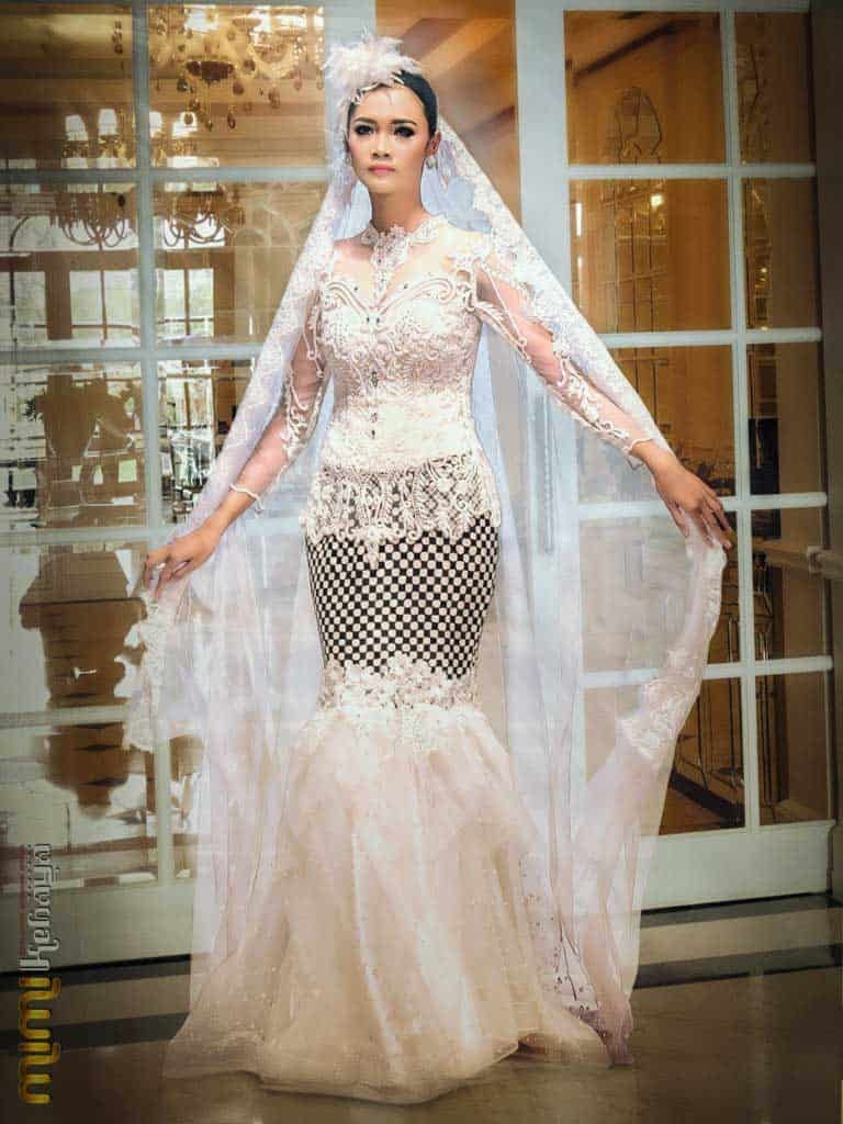 mermaid wedding dress with sleeves lace  Pakaian pernikahan, Gaun