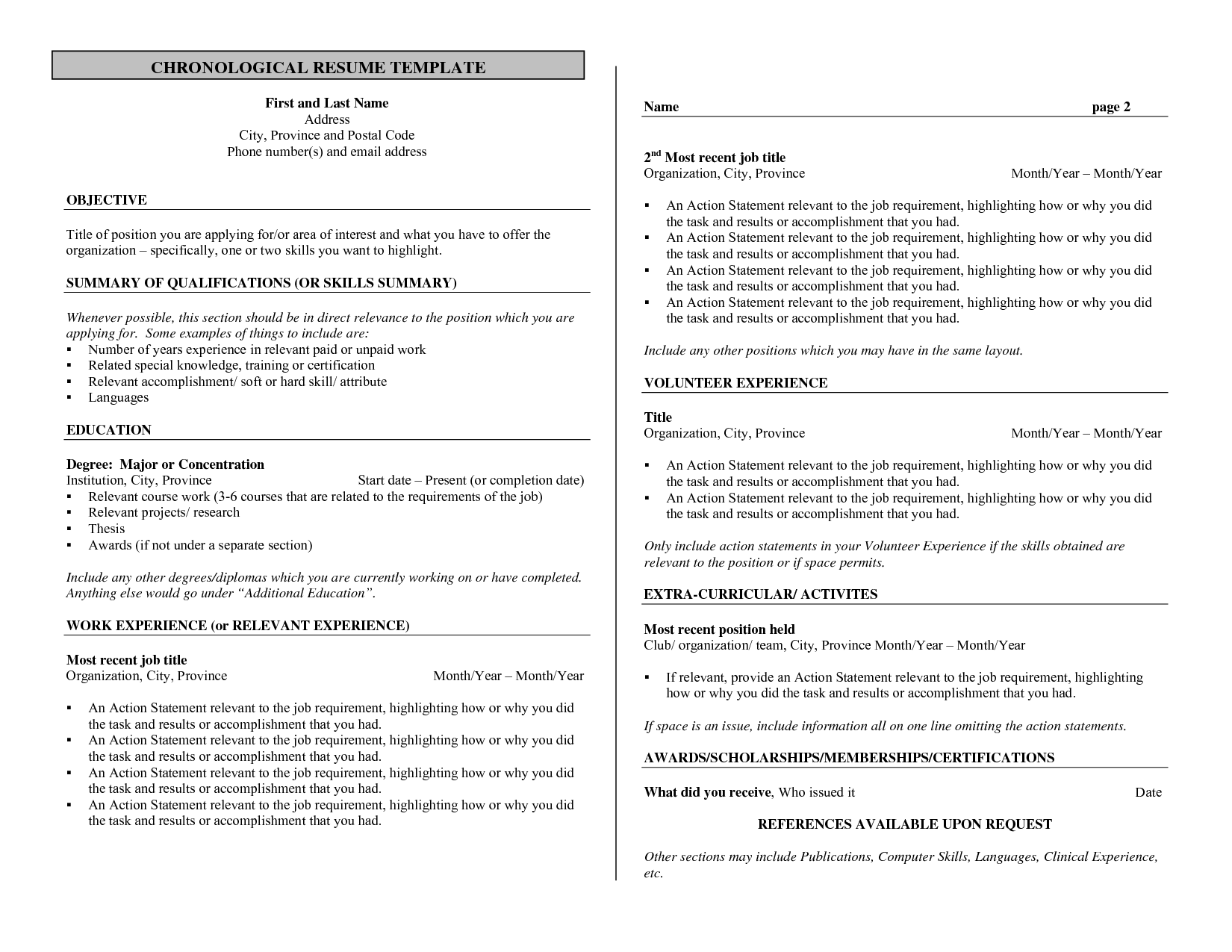Bartender Resume No Experience Template   Http://www.resumecareer.info/  Resume With No Experience Template