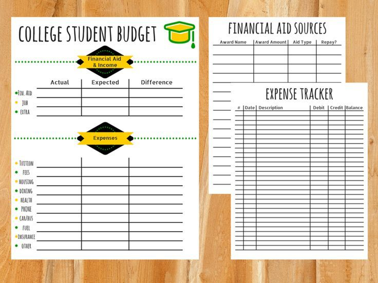 College Student Budget Template Karlapa Ponderresearch Co