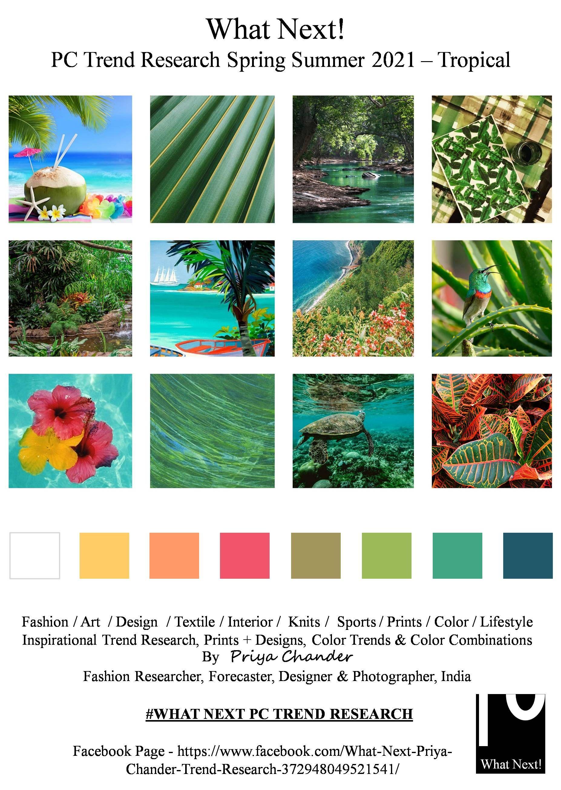 #Tropical #tropics #SS2021 #WhatNextPCTrendResearch #PriyaChanderDesigns
