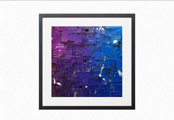 Time As Color Signed Print Small Signature In Discreet Place On Corner Photo This Is Color Collage Mad Color Collage Poster Prints Sign Printing