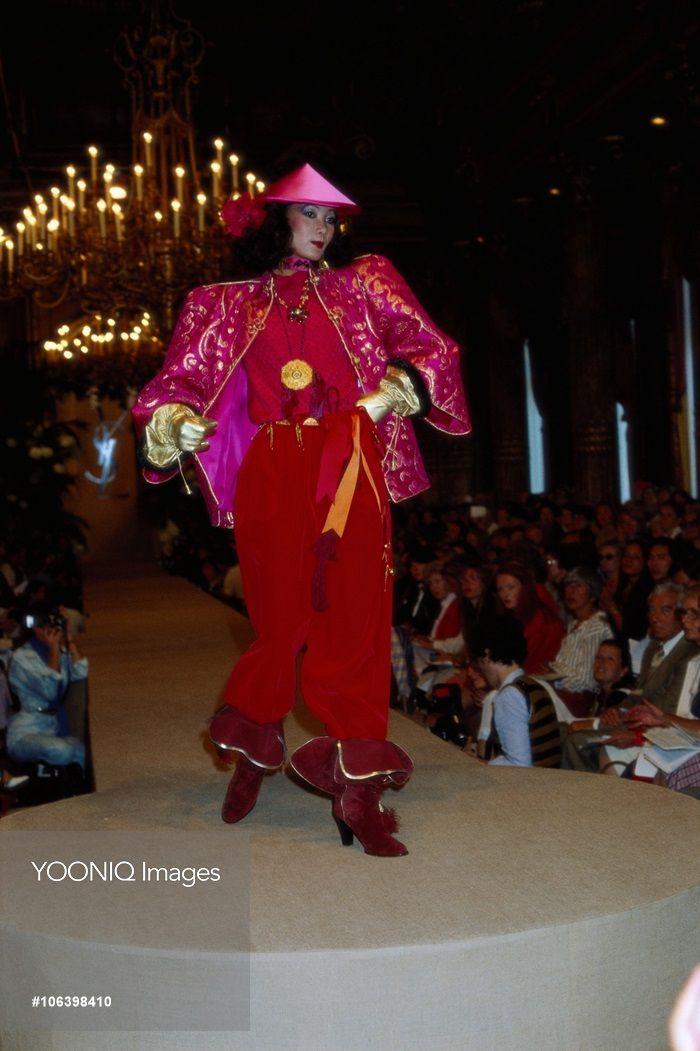 Yves Saint Laurent Autumn Winter 1977 1978 Fashion Show Yves Saint