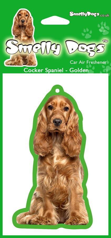 Cocker Spaniel Golden Air Freshener. These delightful air