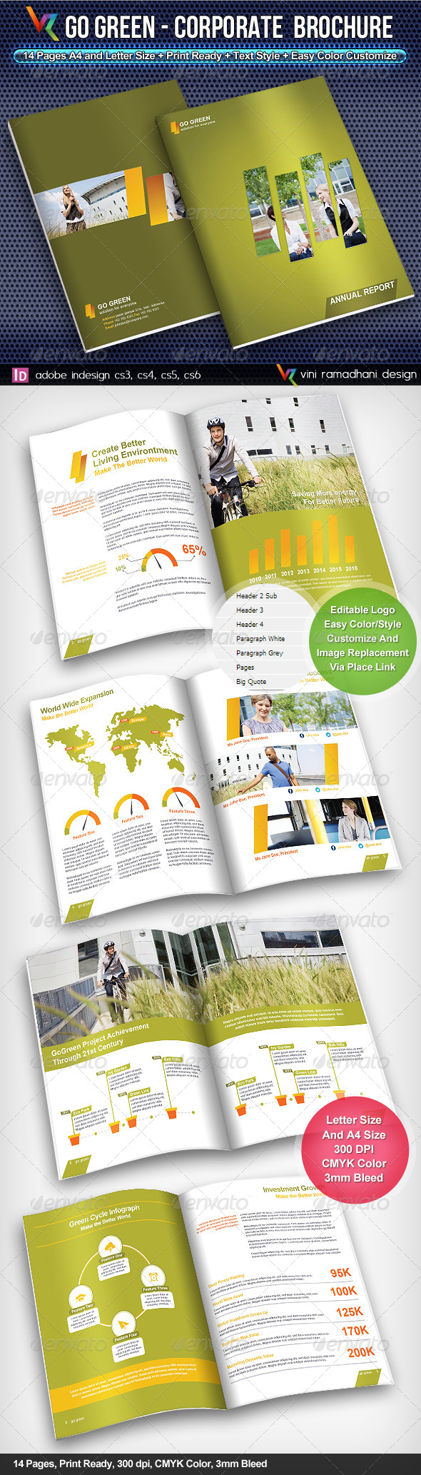 GoGreen Corporate Brochure #GraphicRiver GoGreen Corporate