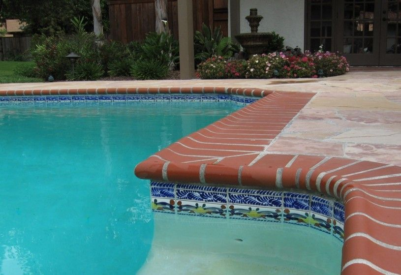 Yeah Would Love To Have This In My Backyard Pool Tile Concrete Pool Waterline Pool Tile