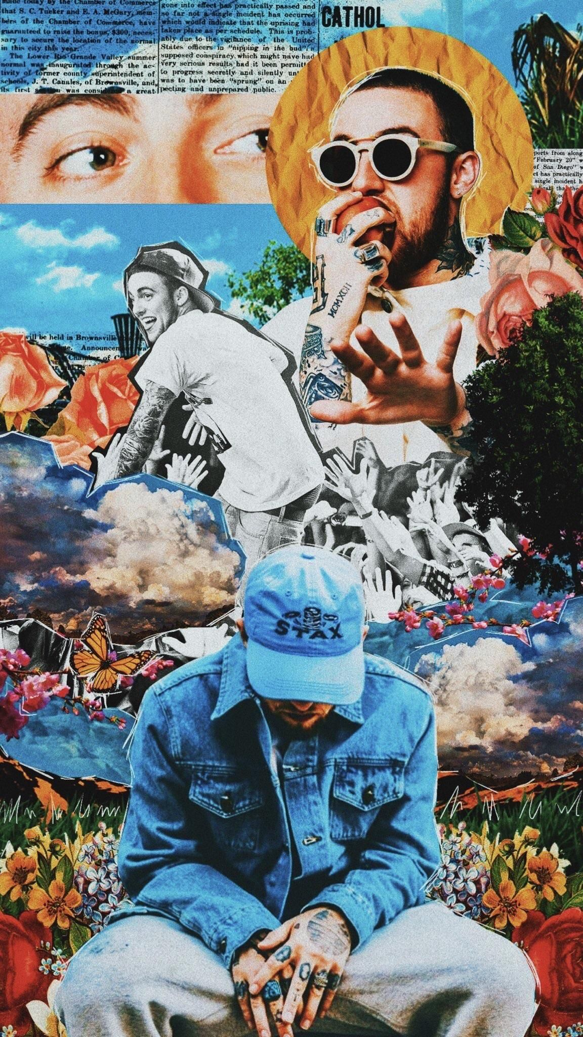 Current wallpaper of the Late Mac Miller Rapper art, Mac