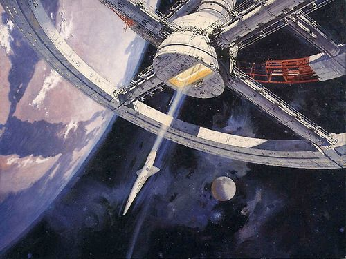 Artwork by Robert McCall for Stanley Kubrick's 2001: A Space Odyssey (1968)