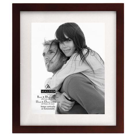 Shopko: Picture Home Decor - Malden 8x10/11x13 Linear Matte Walnut Wooden Frame