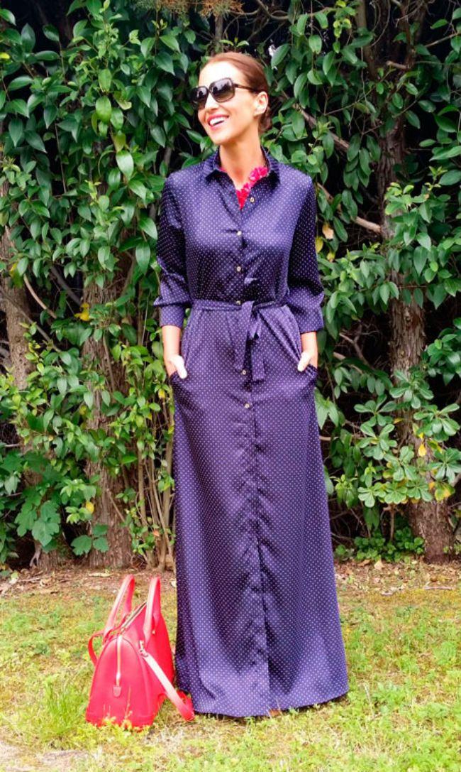 Vestido morado camisero <3 | dress | Pinterest | Este verano ...