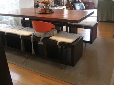 Beau IKEA Hackers: Lack Shelving Unit As Dining Benches. Need This For Our  House!!