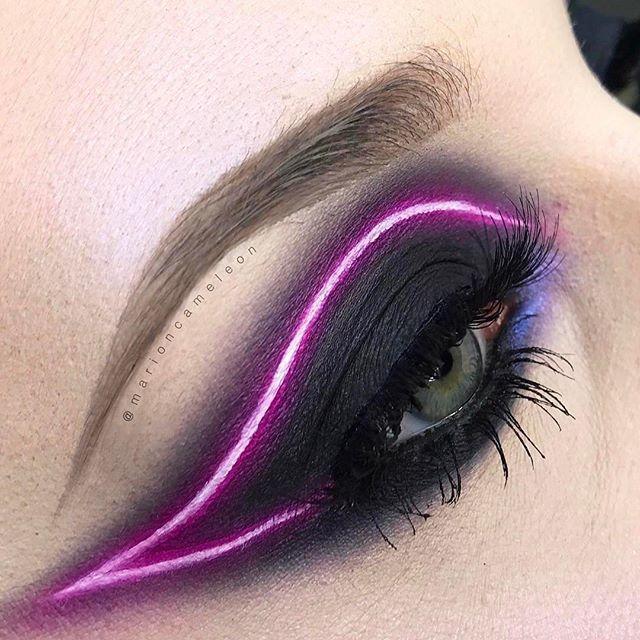 Neon Light Makeup By Marioncameleon Makeup Eyes Liner