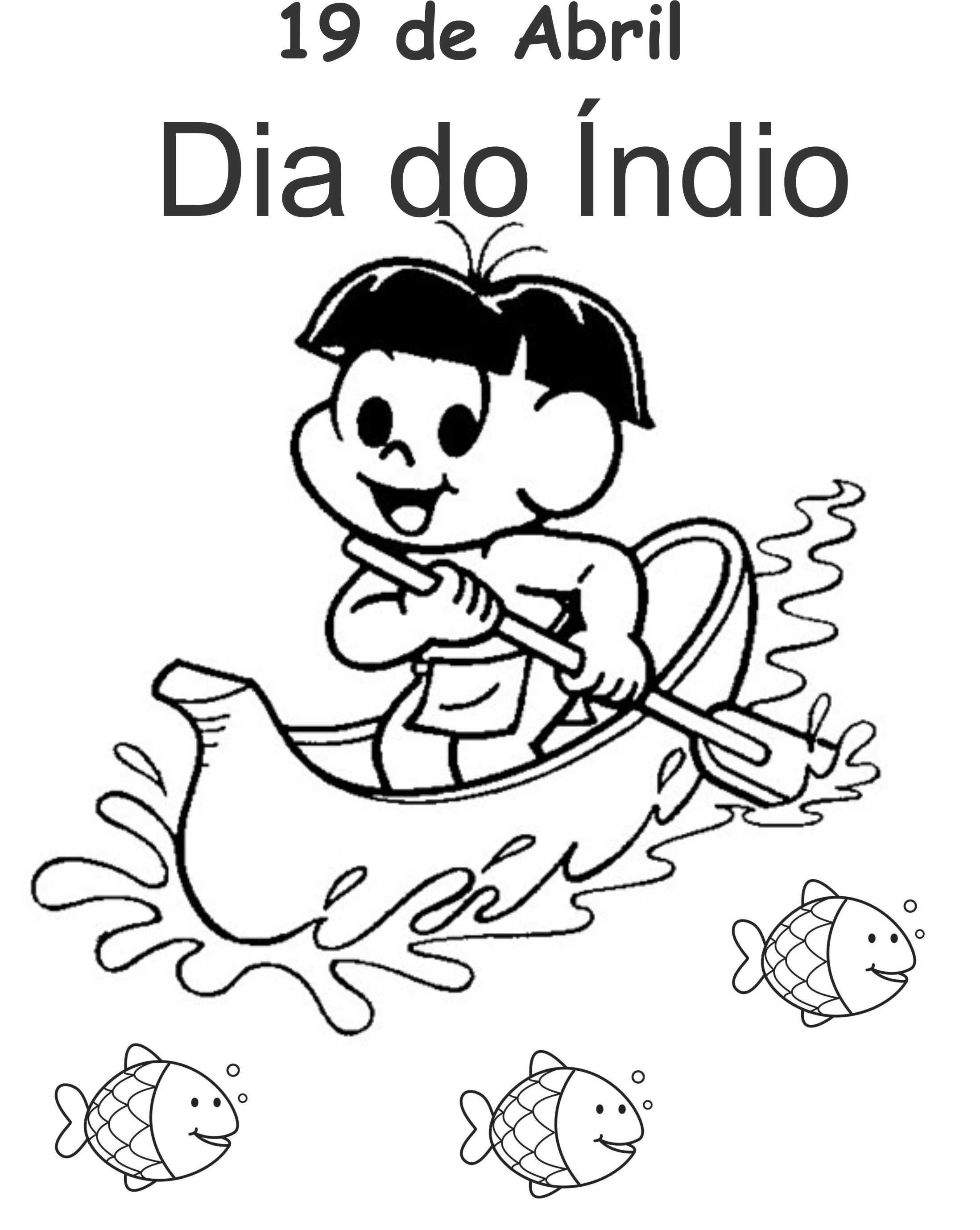 Atividade Para Colorir Dia Do Indio Dia Do Indio Desenhos