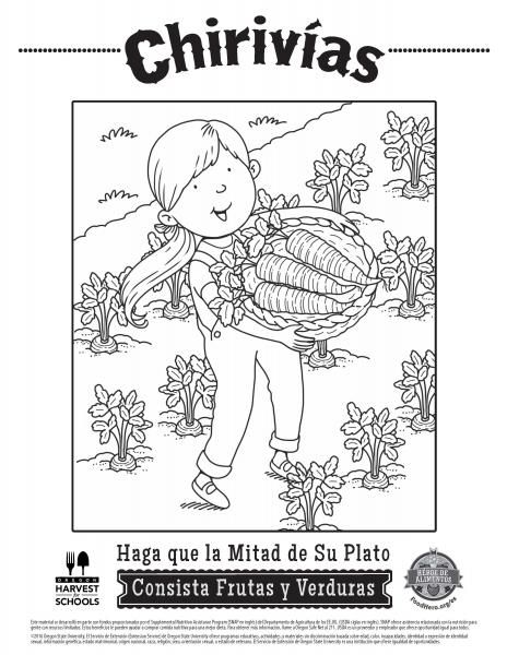 Coloring Pages Food Hero Parsnips Coloring Sheets In Spanish