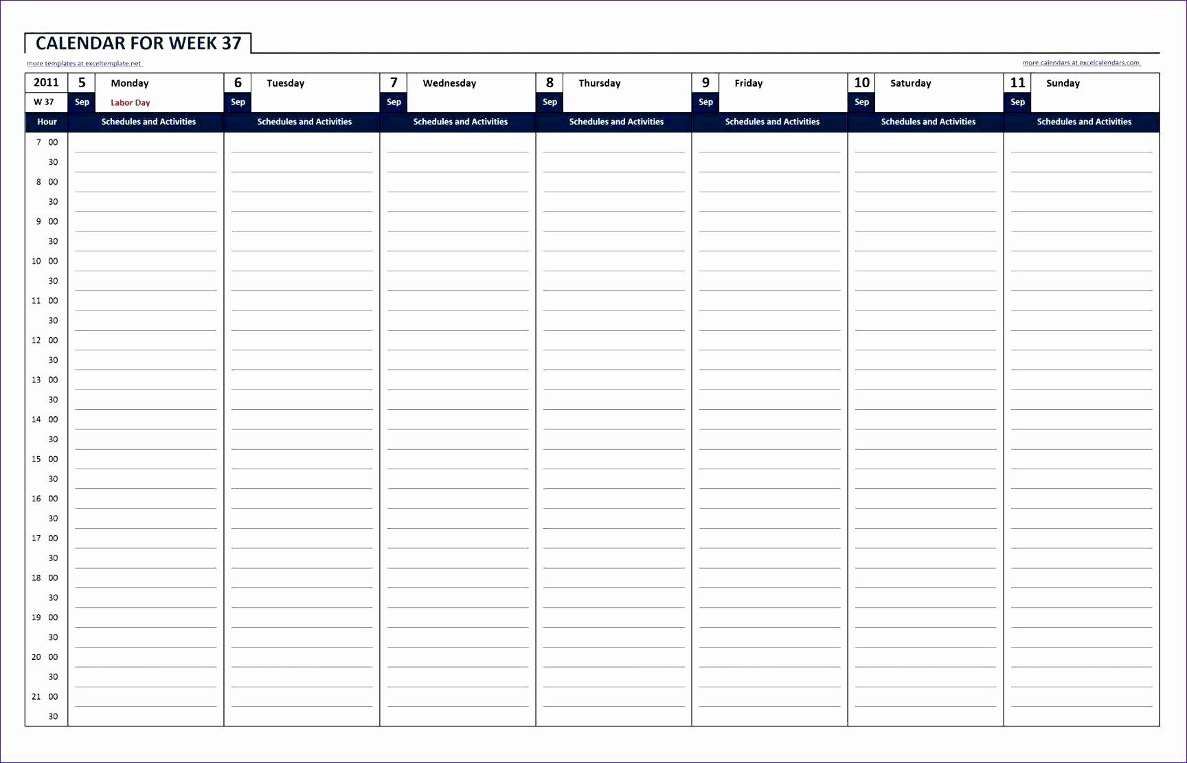 24 Hour Weekly Schedule Template Fresh 10 24 Hour Work Schedule Template Excel Exceltemplates In 2020 Weekly Planner Template Planner Template Schedule Template