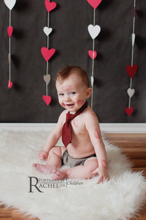 7 Adorable Baby Photo Ideas For Valentine S Day Dogs Baby Photos