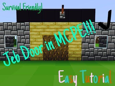 Survival Friendly Jeb Door in MCPE! Easy Tutorial! - YouTube