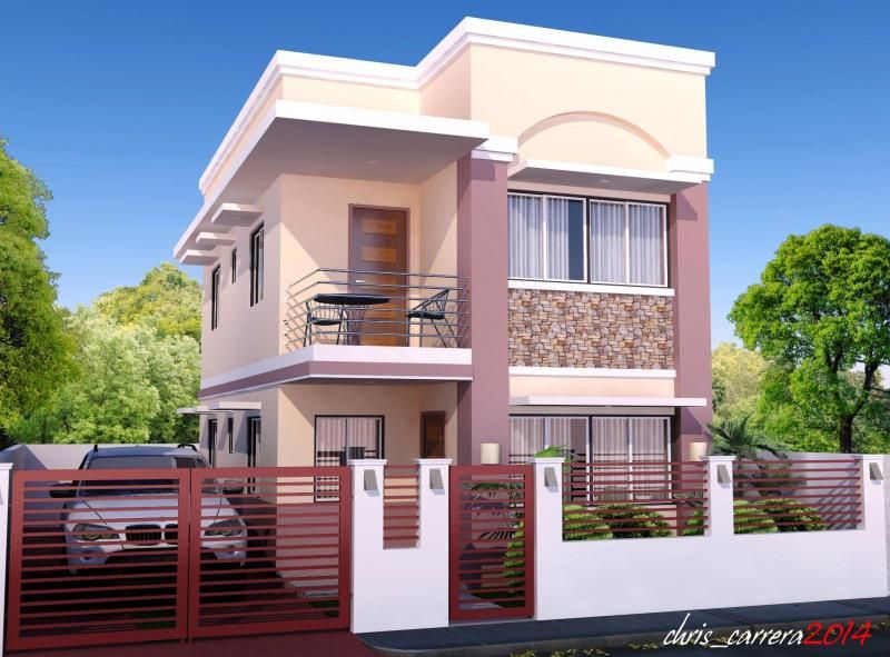 These Are New House Designs For 2016 Most Of These House Renditions Are Big Houses And Two Philippines House Design 2 Storey House Design House Design Photos