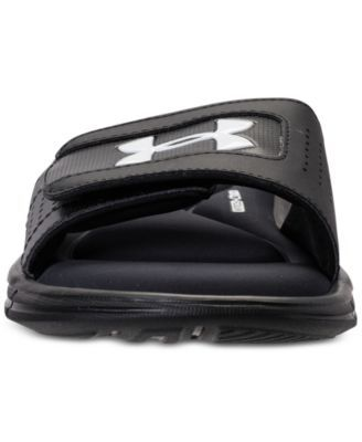 182347f79b7 Under Armour Men s Ignite V Slide Sandals from Finish Line - Black 7 ...