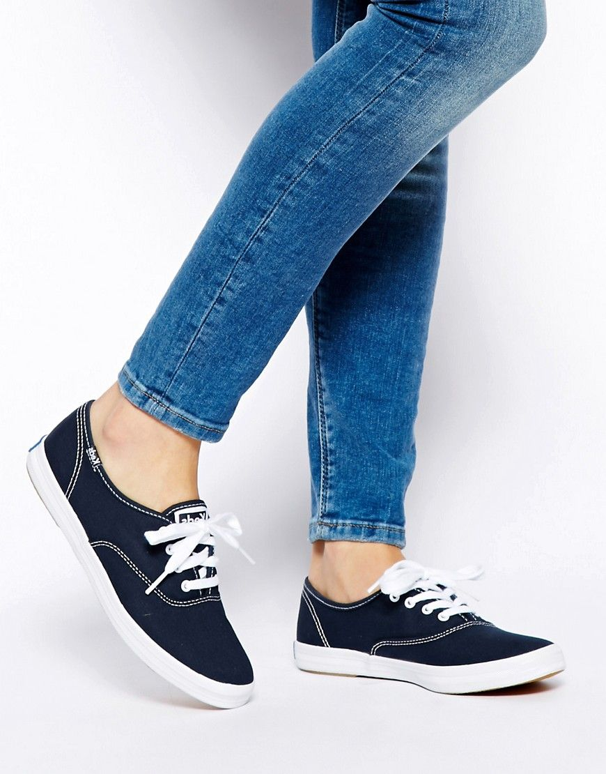 ee037d19254 Keds Champion Canvas Navy Plimsoll Shoes