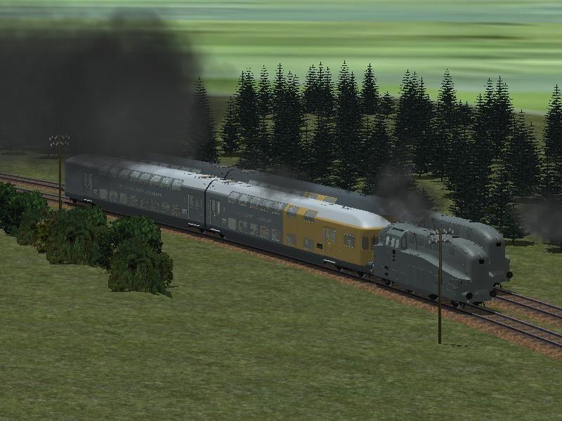 Stromlinien-Wendezug der LBE. Ab #EEP8 http://bit.ly/Stromlinien-Wendezug-der-LBE
