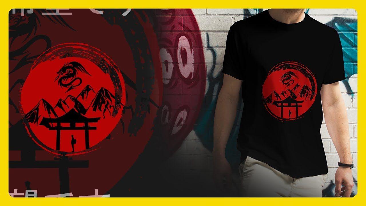 تصميم تيشيرت ميرش باي ياباني علي الفوتوشوب Youtube Mens Tops Mens Tshirts T Shirt